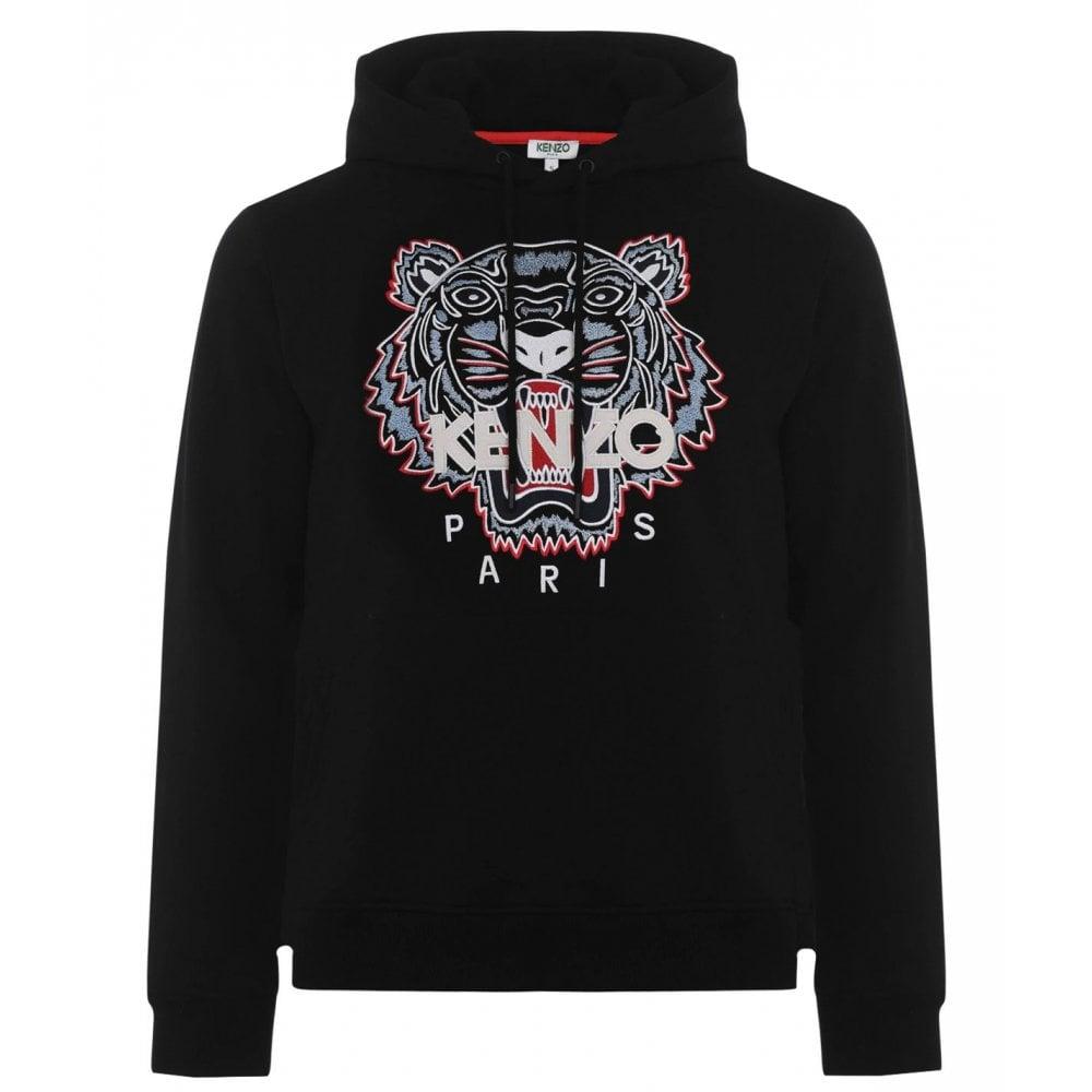 Kenzo Tiger Hoodie Colour: BLACK, Size: MEDIUM