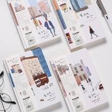 1pc City Print Cover Notebook