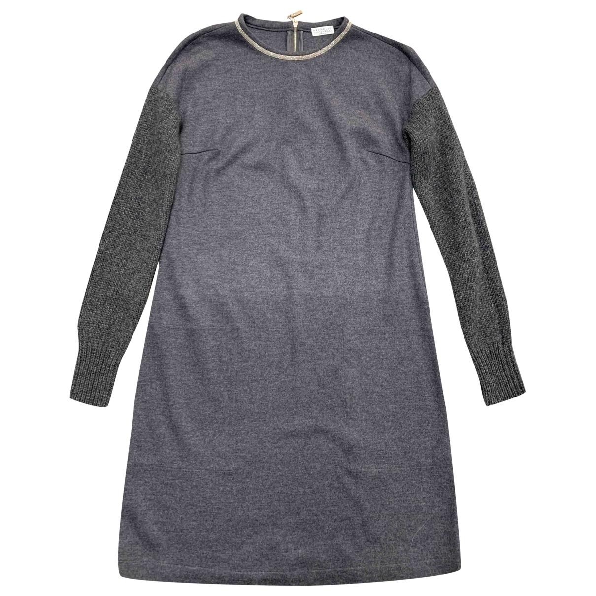 Brunello Cucinelli - Robe   pour femme en cachemire - gris