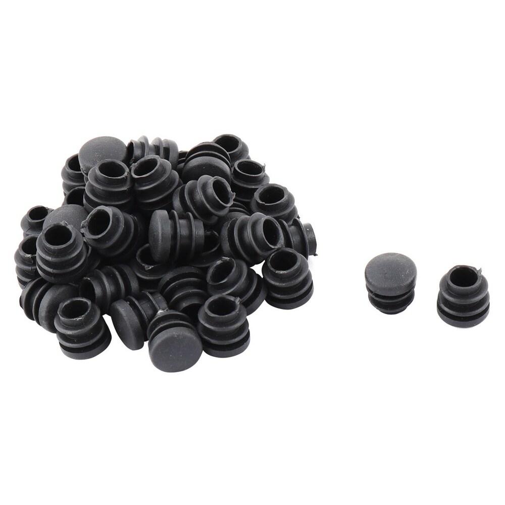 Round Hole Plug Chair Table Legs Inserts Cap Black 16mm Dia 40pcs (Black)