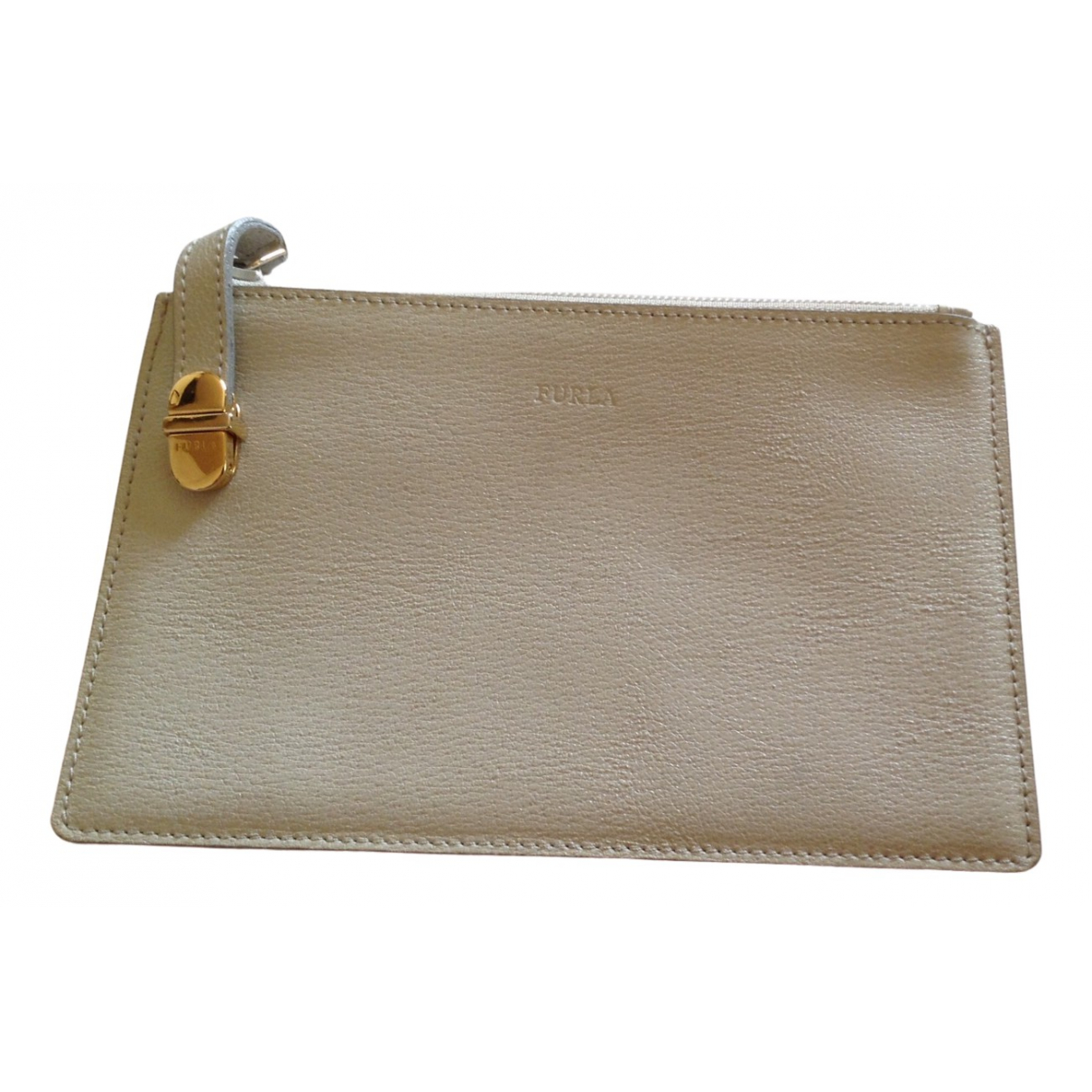 Furla \N Clutch in  Grau Leder
