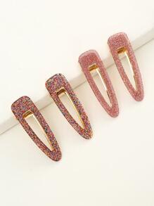 4pcs Glitter Hair Clip