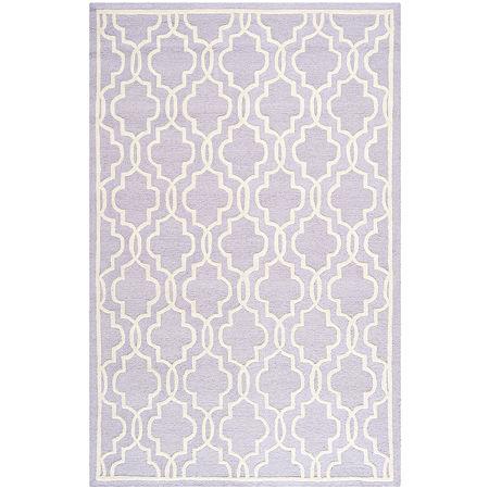 Safavieh Chester Quatrefoil Wool Area Rug, One Size , Purple