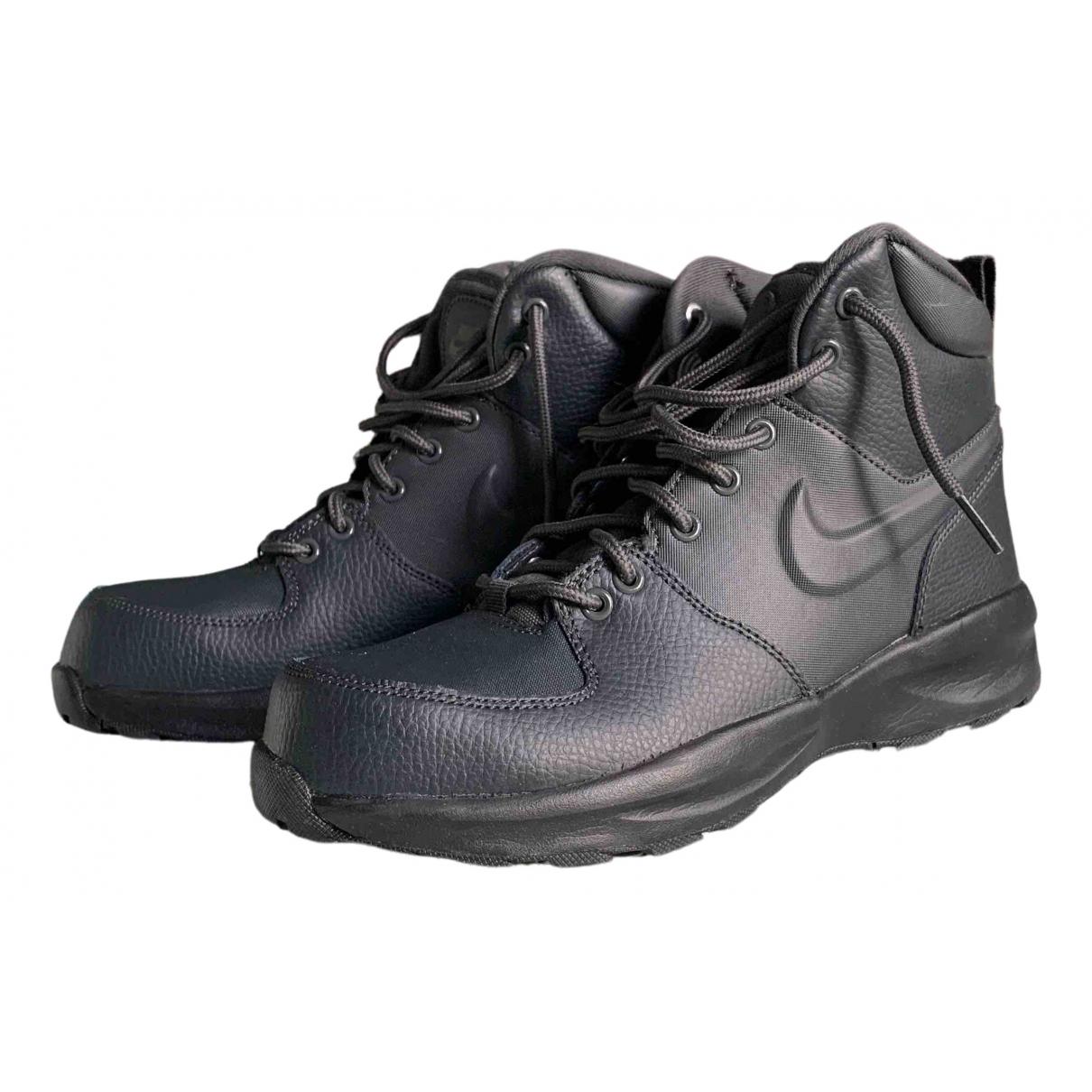 Nike \N Black Leather Boots for Women 39 EU