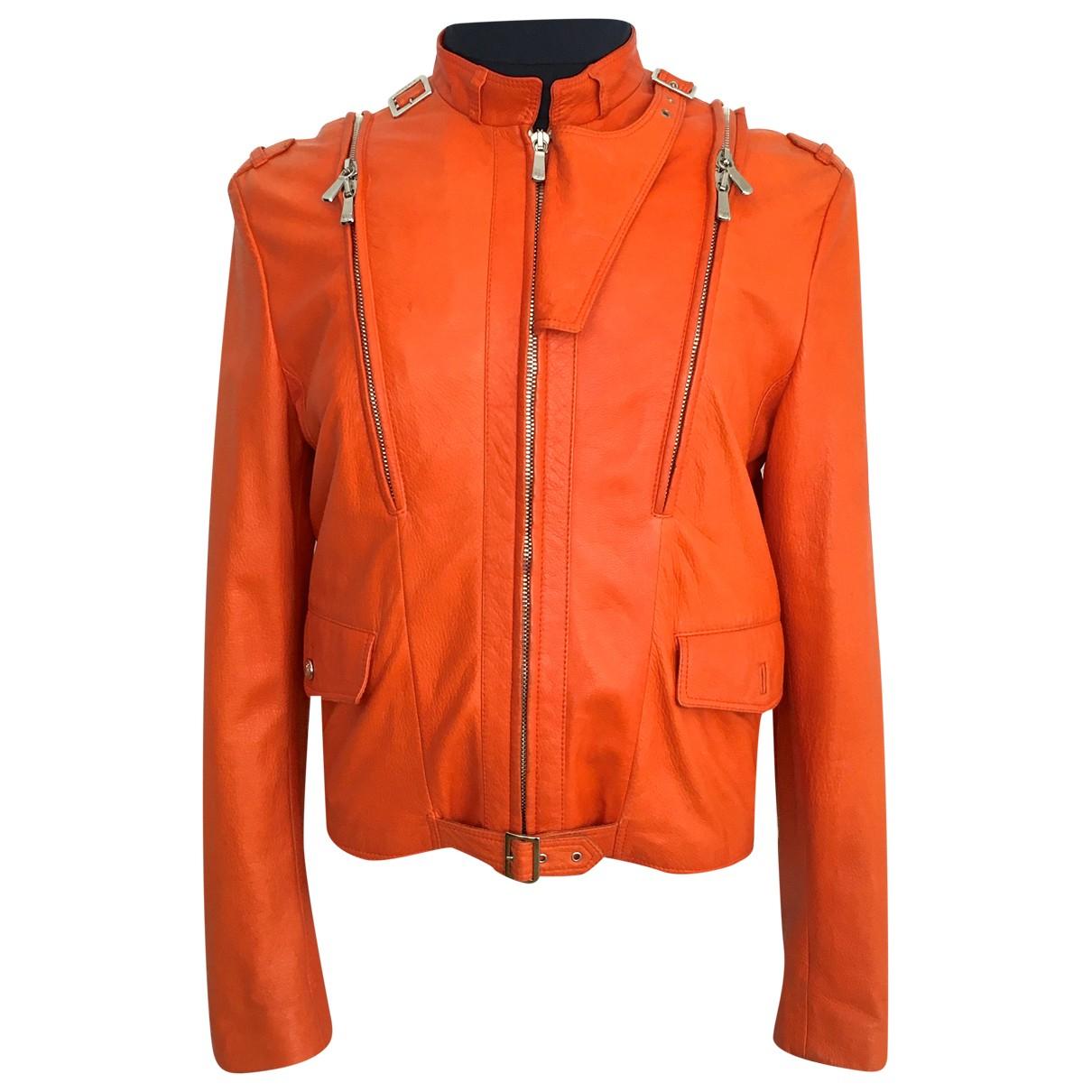 Versace \N Jacke in  Orange Leder