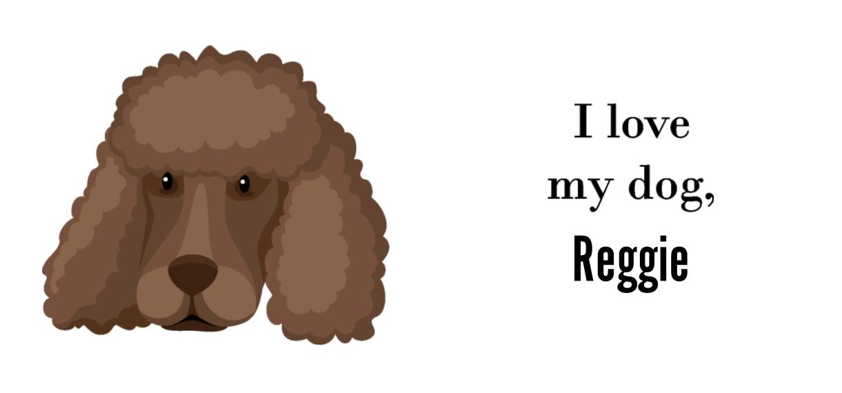 Pets + Animals 11 oz. Pink Accent Mug, Gift -Poodle Shaved
