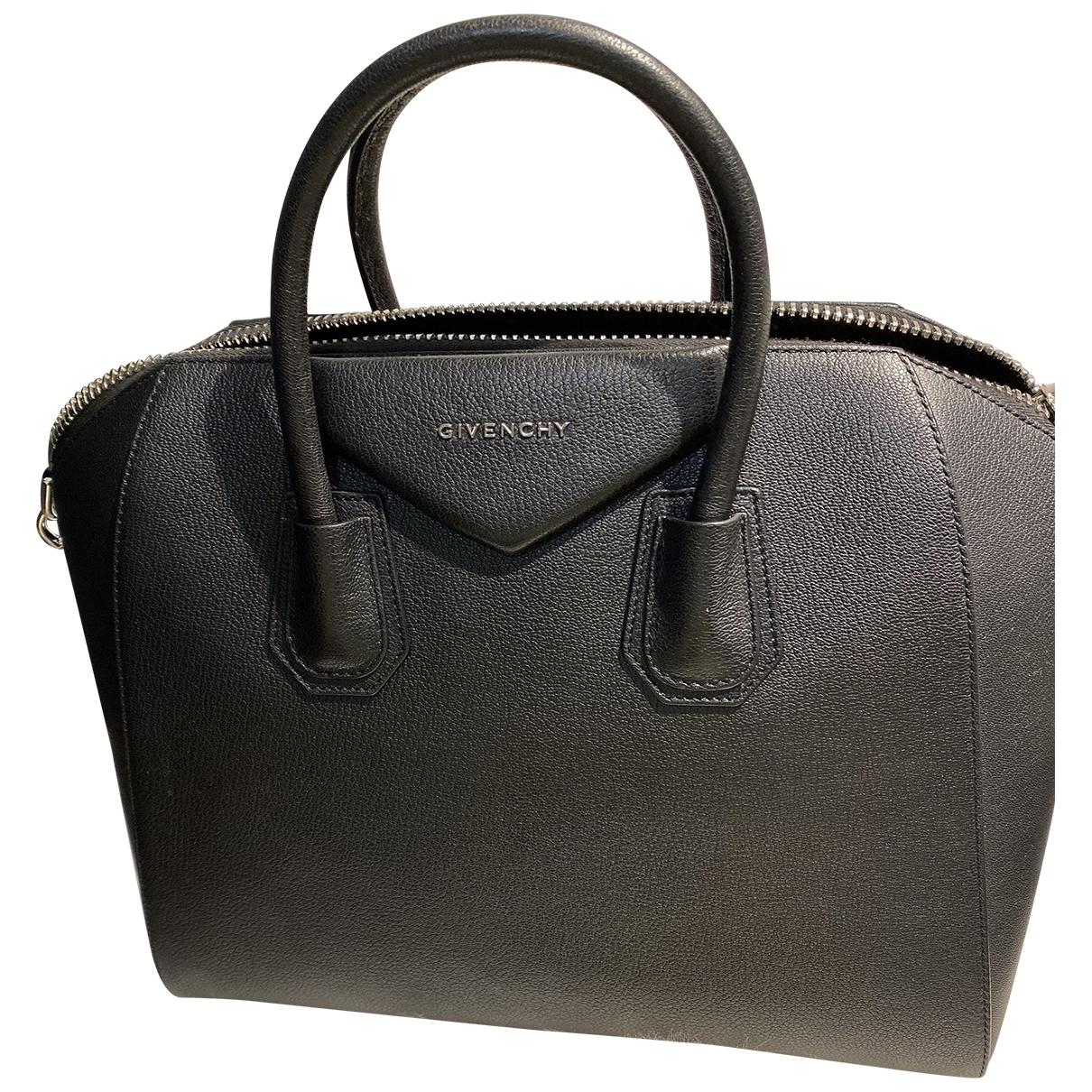 Givenchy Antigona Black Leather handbag for Women \N