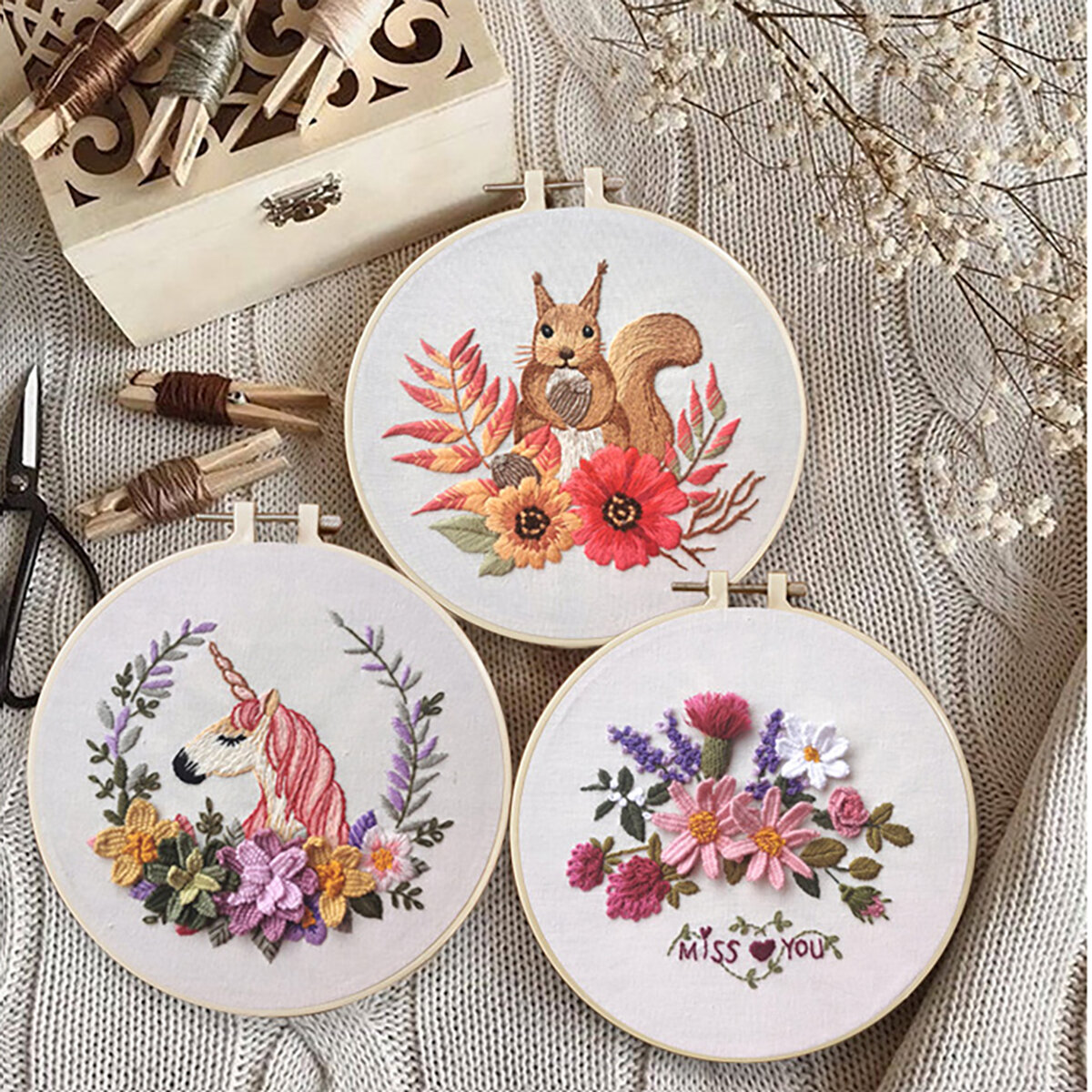 3D Embroidery Kit Needlework Embroidery Embroidery For Beginner DIY Art Sewing Craft