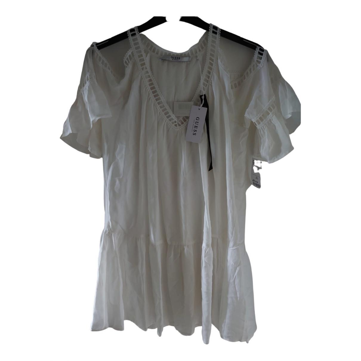 Guess \N Kleid in  Weiss Seide