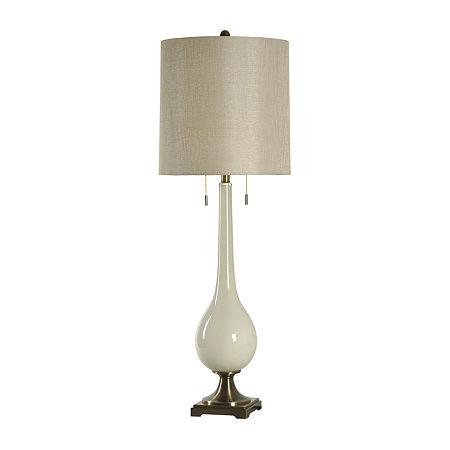 Stylecraft Lazio 15 W White Polyresin Table Lamp, One Size , White