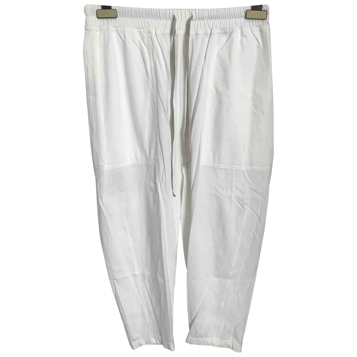 Rick Owens Drkshdw \N White Cotton Trousers for Women S International