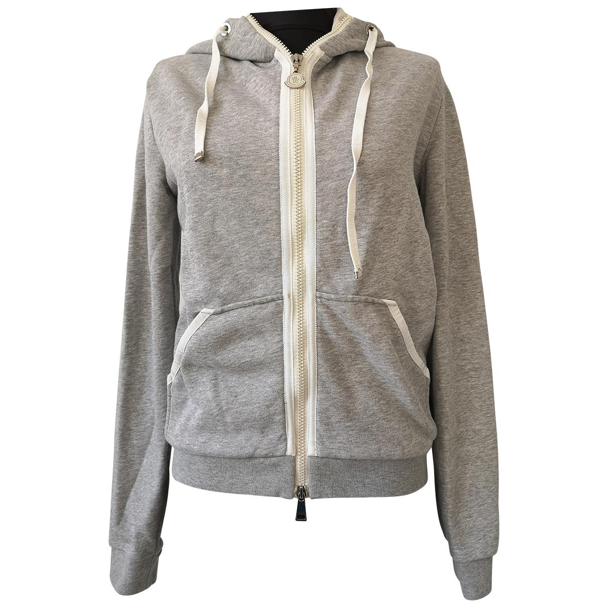 Moncler - Pull   pour femme en coton - gris