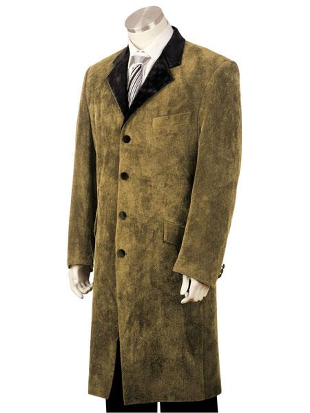 mens 3pc suit vested Brown zoot suit