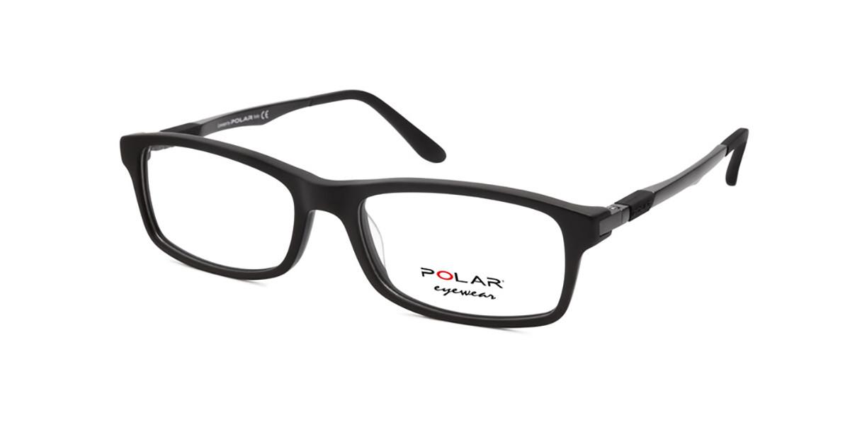 Polar PL 995 76 Mens Glasses Black Size 54 - Free Lenses - HSA/FSA Insurance - Blue Light Block Available