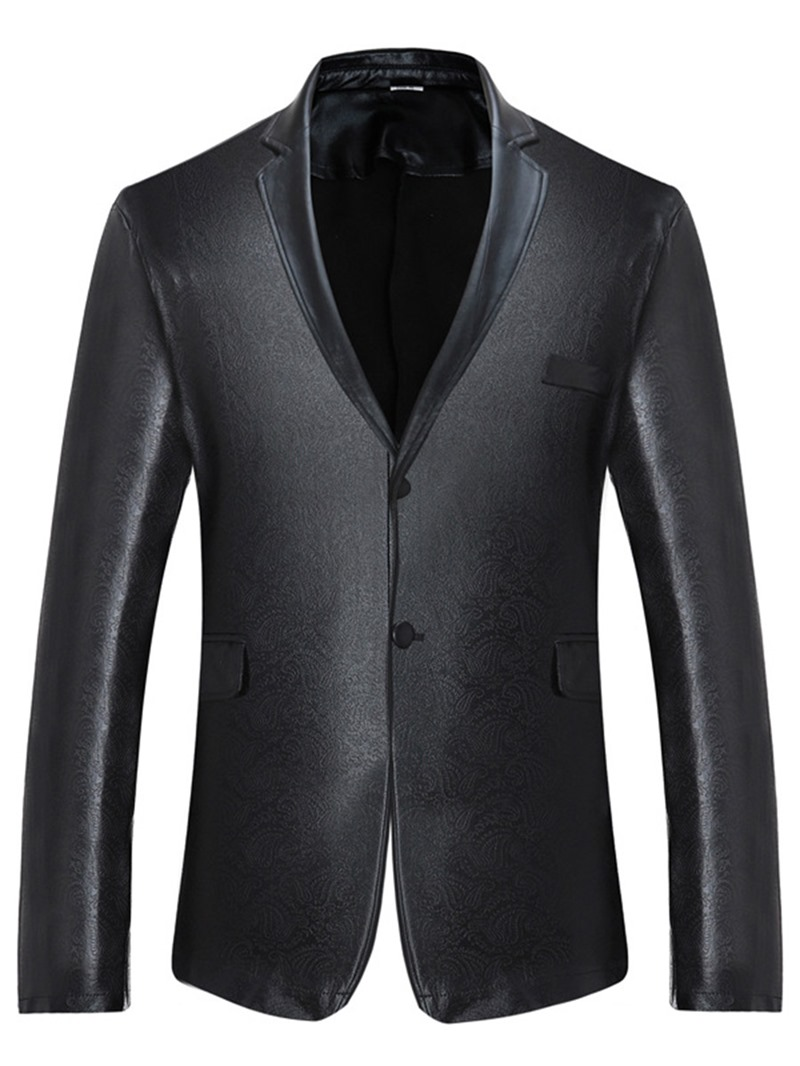 Ericdress Single-Breasted Plain Unique Men's Blazer