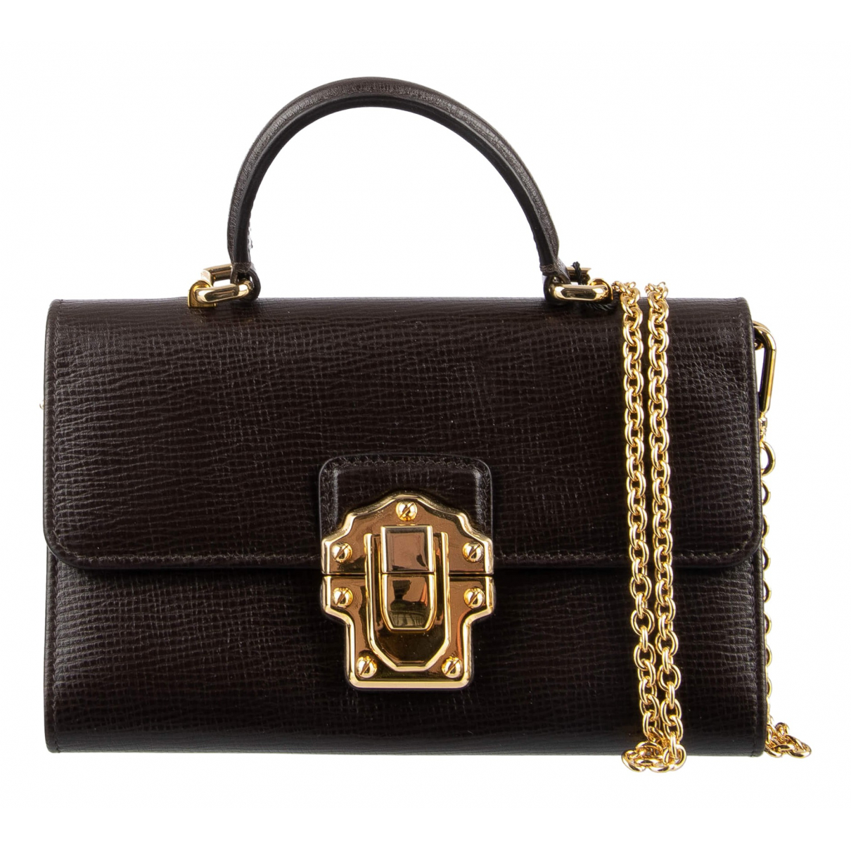 Dolce & Gabbana Lucia Brown Leather handbag for Women \N
