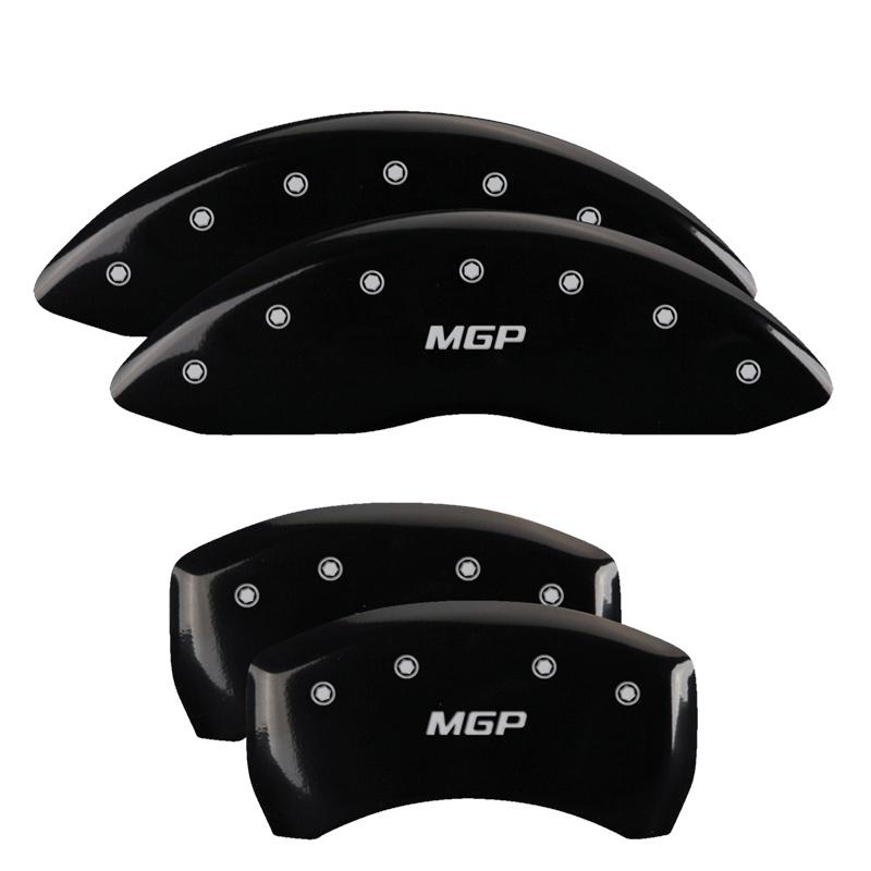 MGP Caliper Covers 23001SMGPBK Set of 4: Black finish, Silver MGP / MGP Mercedes-Benz