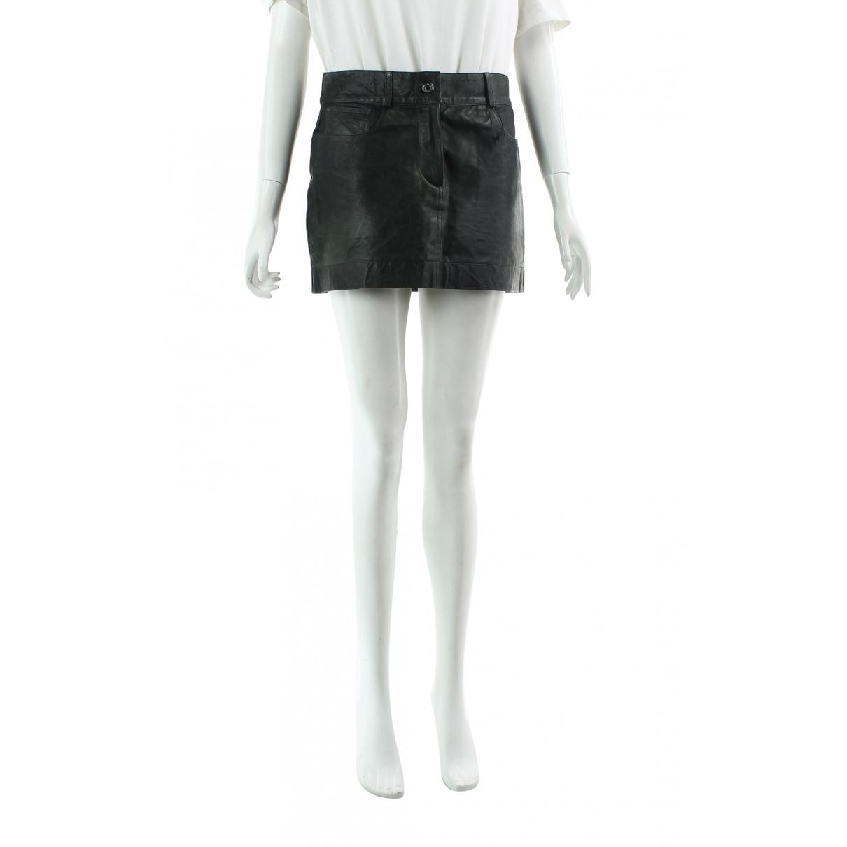 Dolce & Gabbana - Jupe   pour femme en cuir - vert