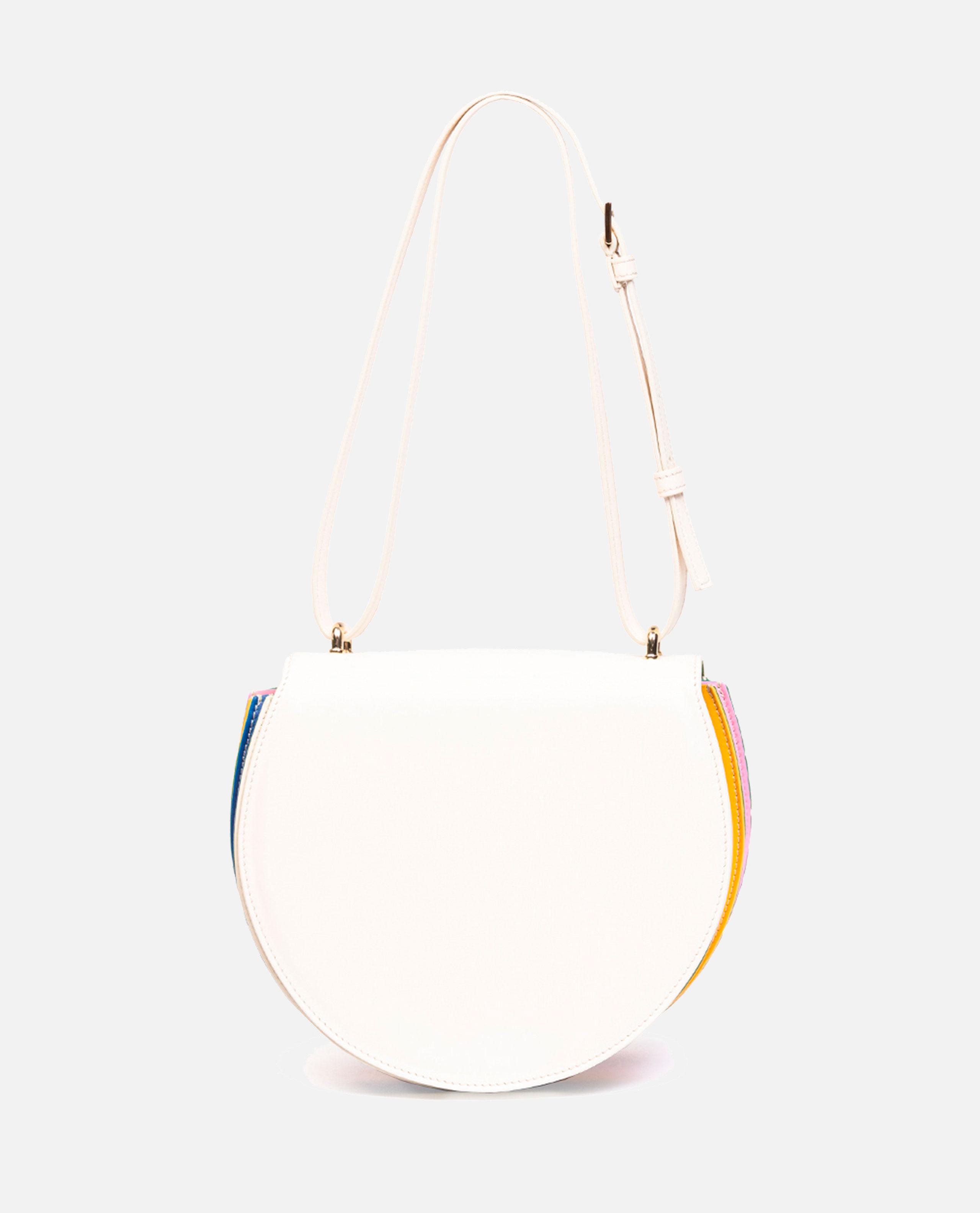 Caroline Plisse Crossbody White Rainbow