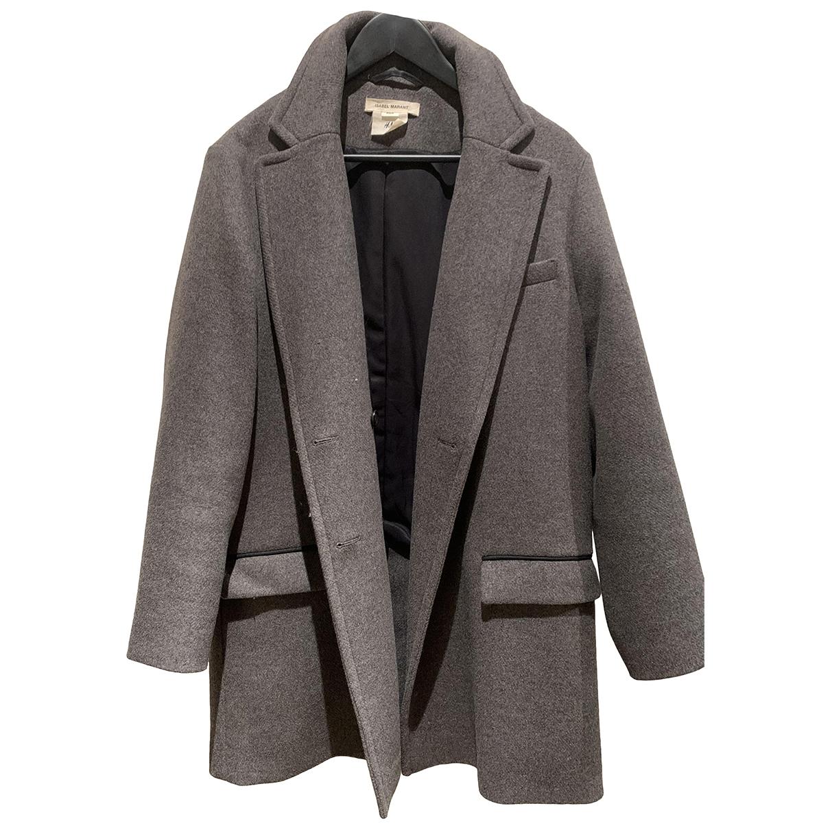 Isabel Marant Pour H&m \N Grey Wool coat for Women 36 FR