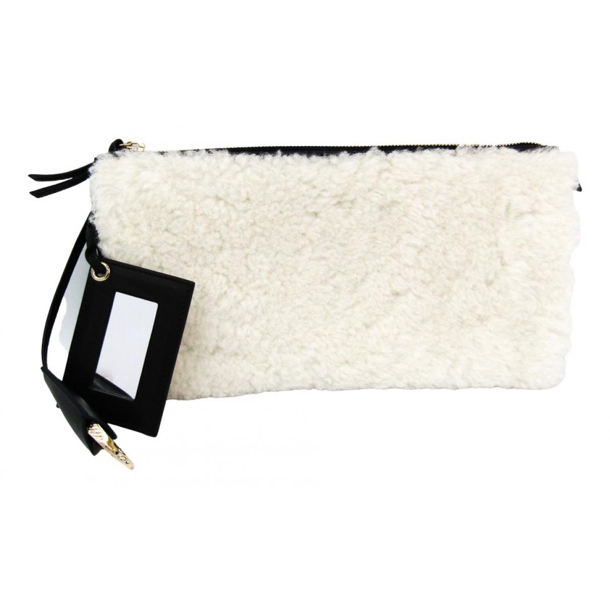 Balenciaga - Pochette   pour femme en mouton - blanc