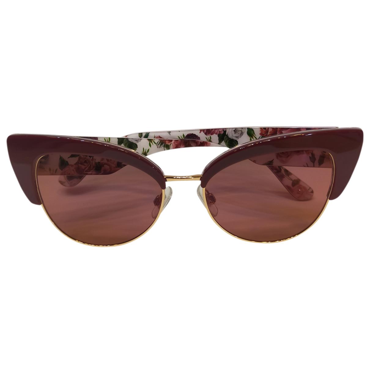 Dolce & Gabbana N Burgundy Sunglasses for Women N