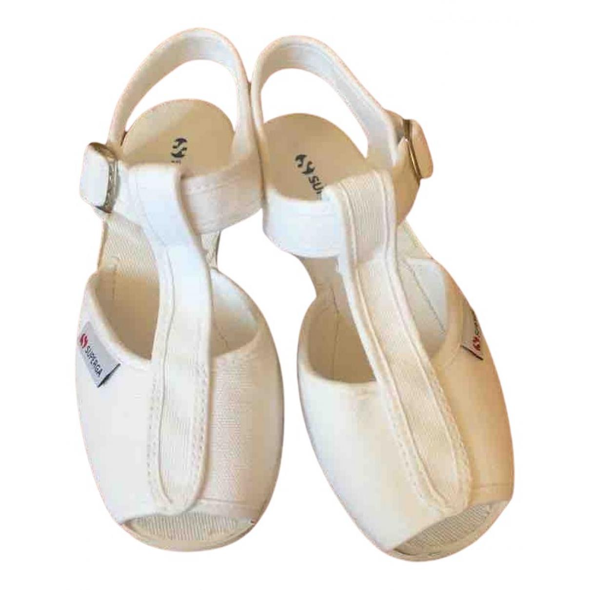 Superga - Sandales   pour enfant en caoutchouc - blanc