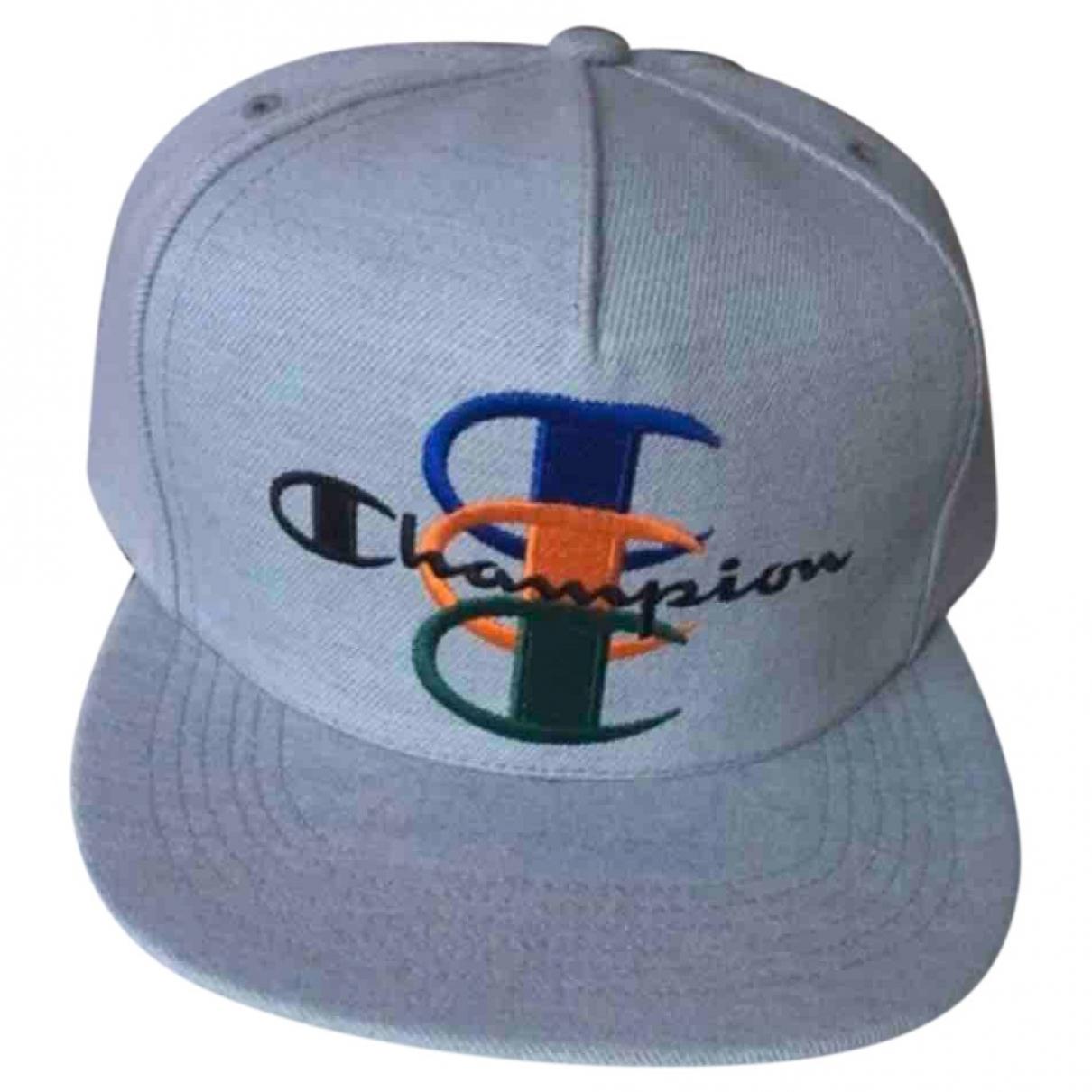 Supreme X Champion - Chapeau & Bonnets   pour homme en toile - gris