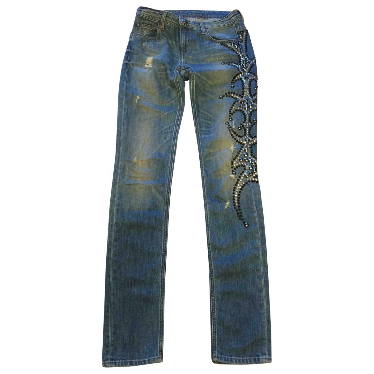 Faith Connexion \N Blue Cotton - elasthane Jeans for Women 27 US