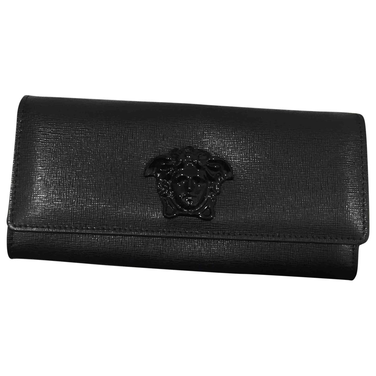 Versace \N Black Leather wallet for Women \N
