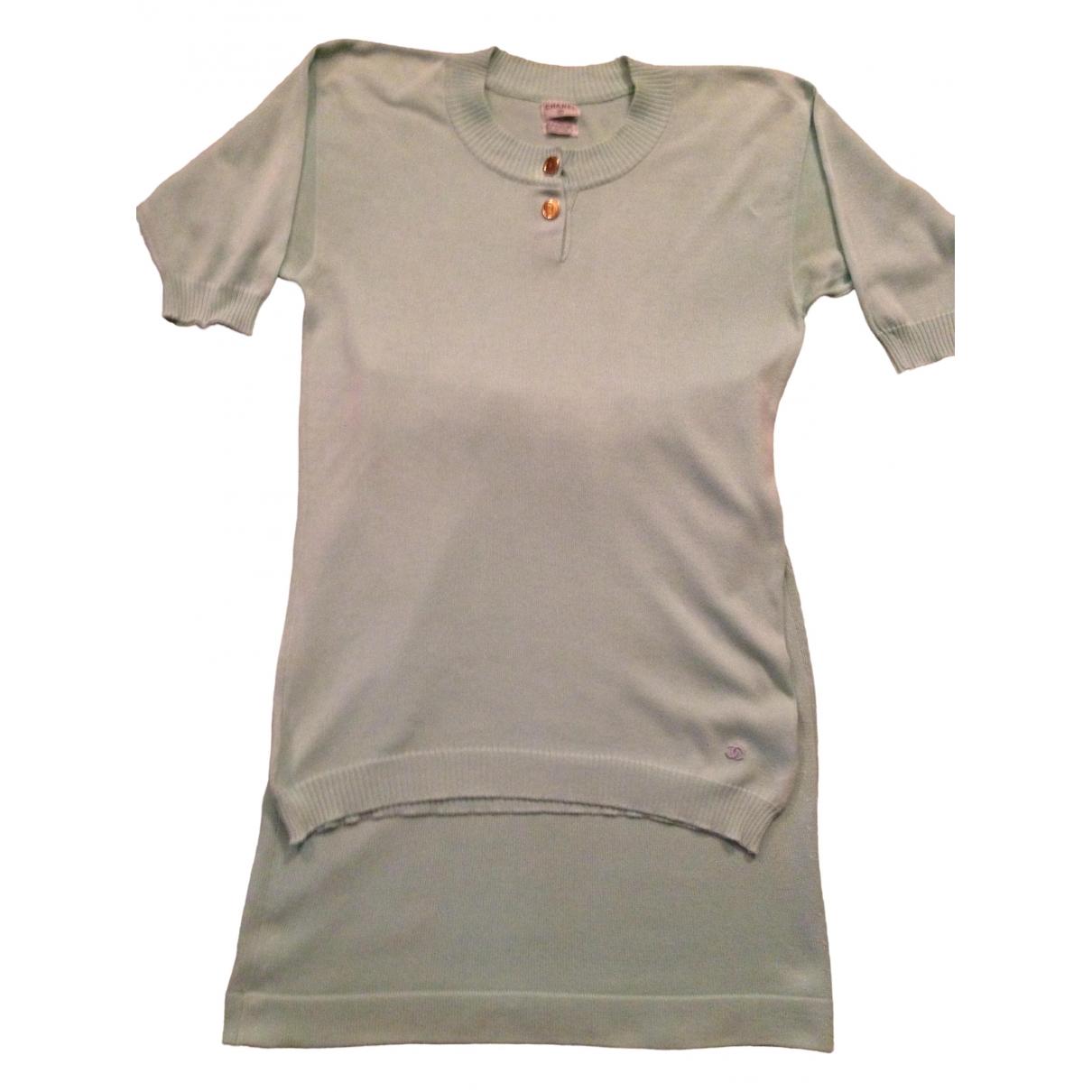 Chanel \N Kleid in  Tuerkis Baumwolle