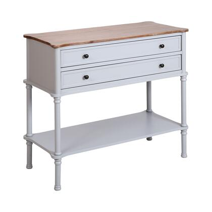 17100 Hingham Console Desk  in Light Grey  Brushed Grey Acacia