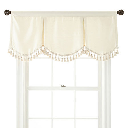 JCPenney Home Supreme Rod-Pocket Frontenac Valance, One Size , White