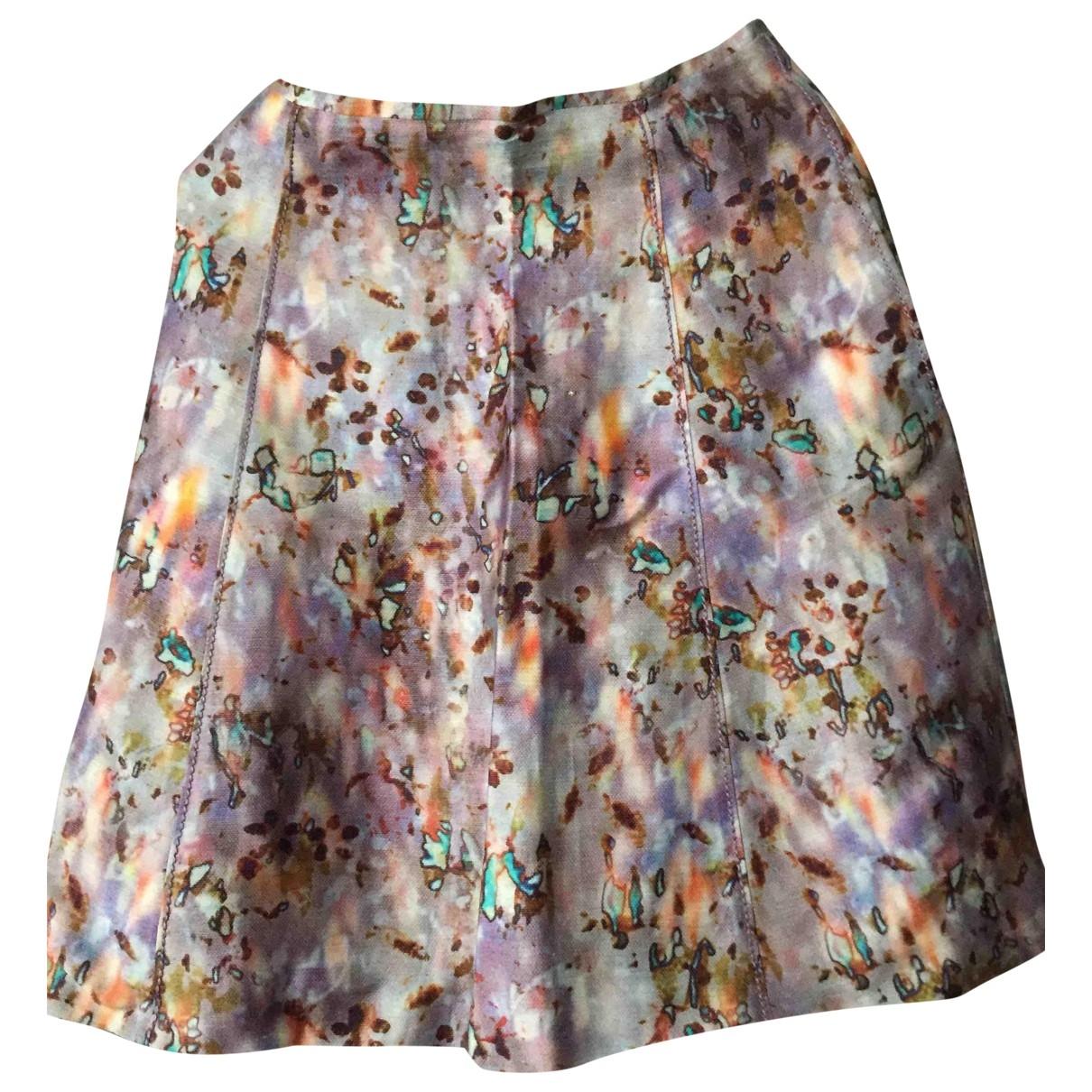 Nina Ricci \N Multicolour Linen skirt for Women 36 FR