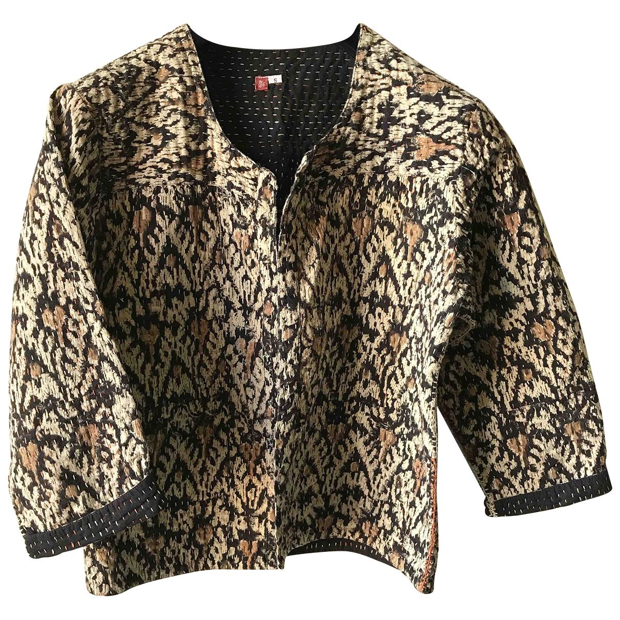 Non Signé / Unsigned Hippie Chic Multicolour Cotton jacket for Women S International