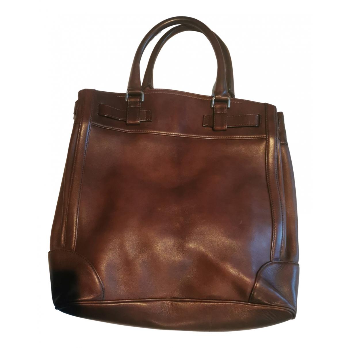 Salvatore Ferragamo N Burgundy Leather bag for Men N