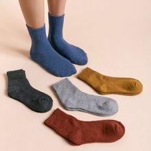 5 pares calcetines ribete de canale