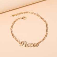 Pisces Letter Decor Zodiac Bracelet