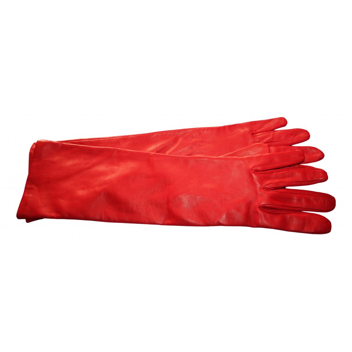 Elegance Paris \N Handschuhe in  Rot Leder