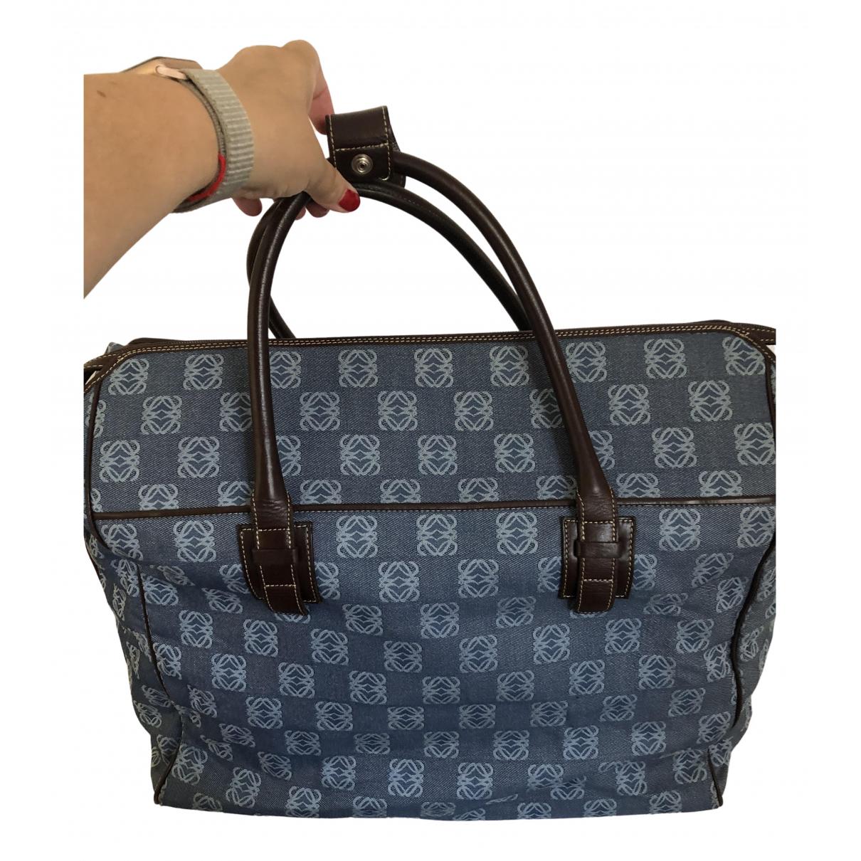 Loewe \N Blue Denim - Jeans Travel bag for Women \N