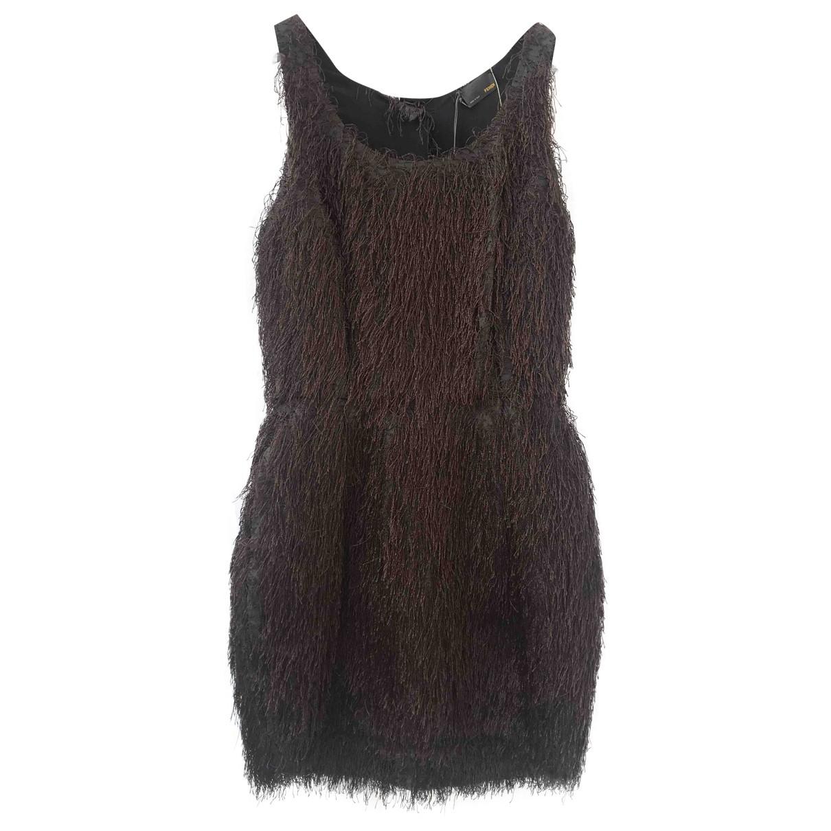Fendi - Robe   pour femme en soie - marron