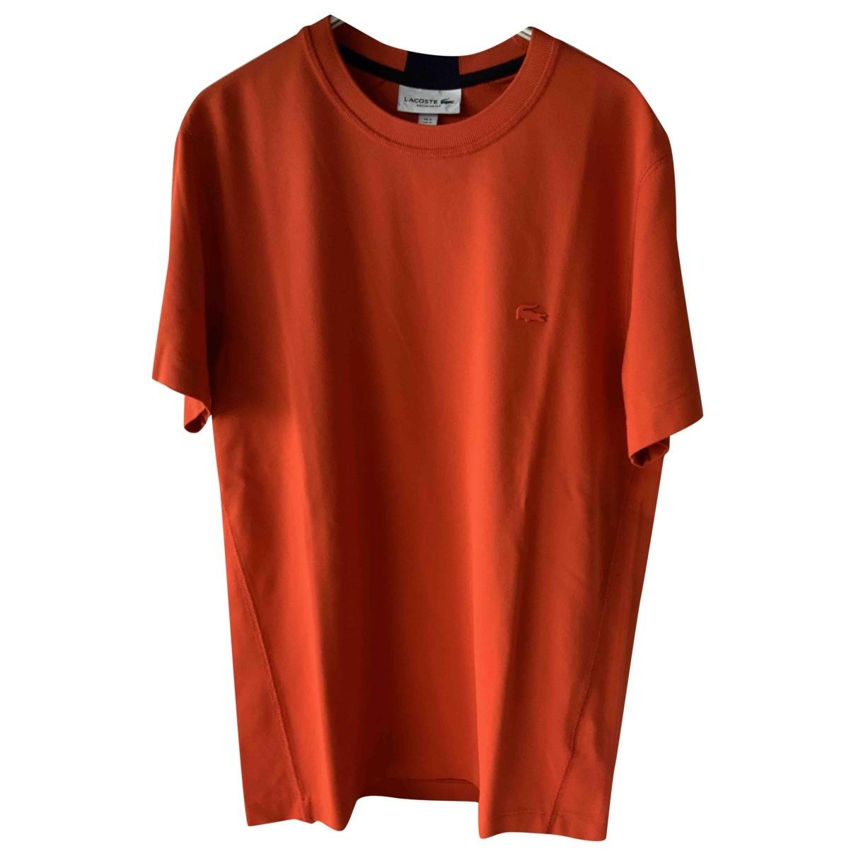 Lacoste Live \N T-Shirts in  Orange Baumwolle
