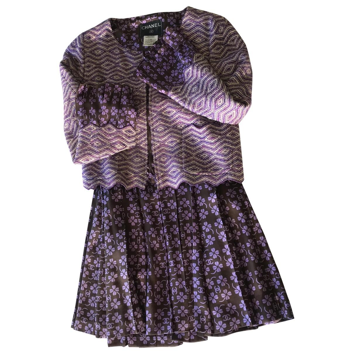 Chanel - Jupe   pour femme en laine - violet