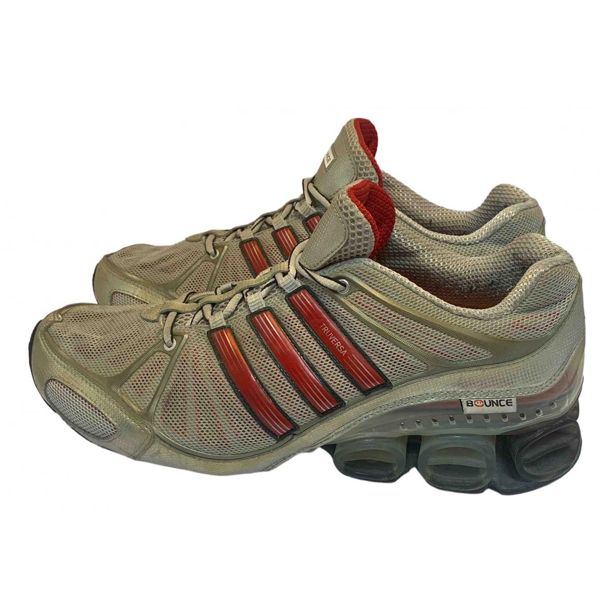 Adidas \N Sneakers in  Silber Leinen
