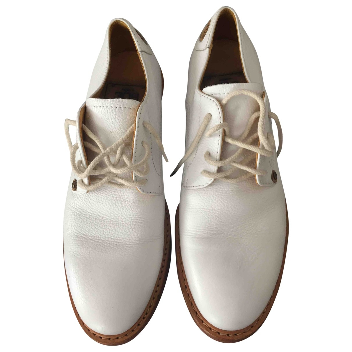 Cesare Paciotti \N White Leather Lace ups for Men 9 US