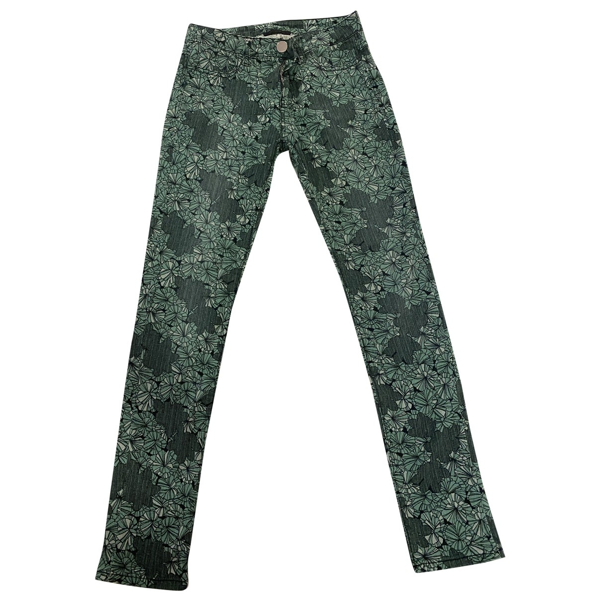 Pinko \N Green Cotton Jeans for Women 34 FR