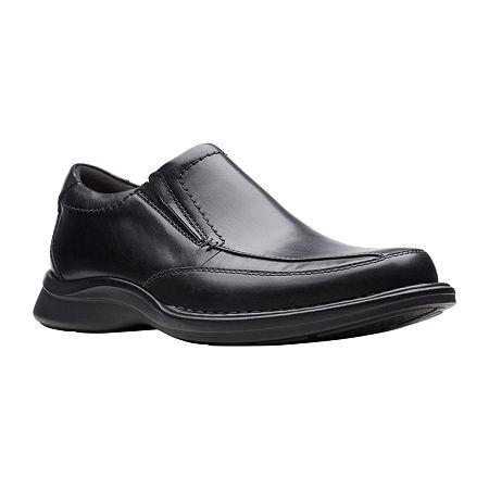 Clarks Mens Kempton Free Slip-On Shoe, 8 1/2 Medium, Black