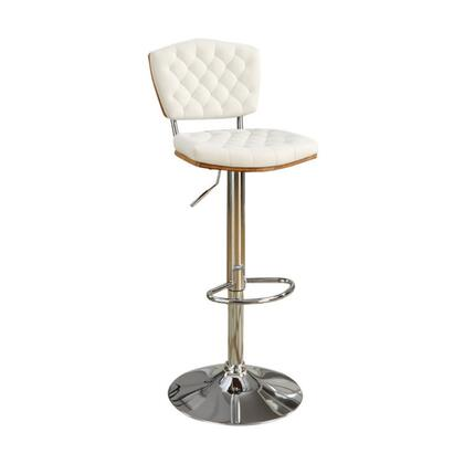 BM167113 Barstool With Tufted Seat And Back White Set of