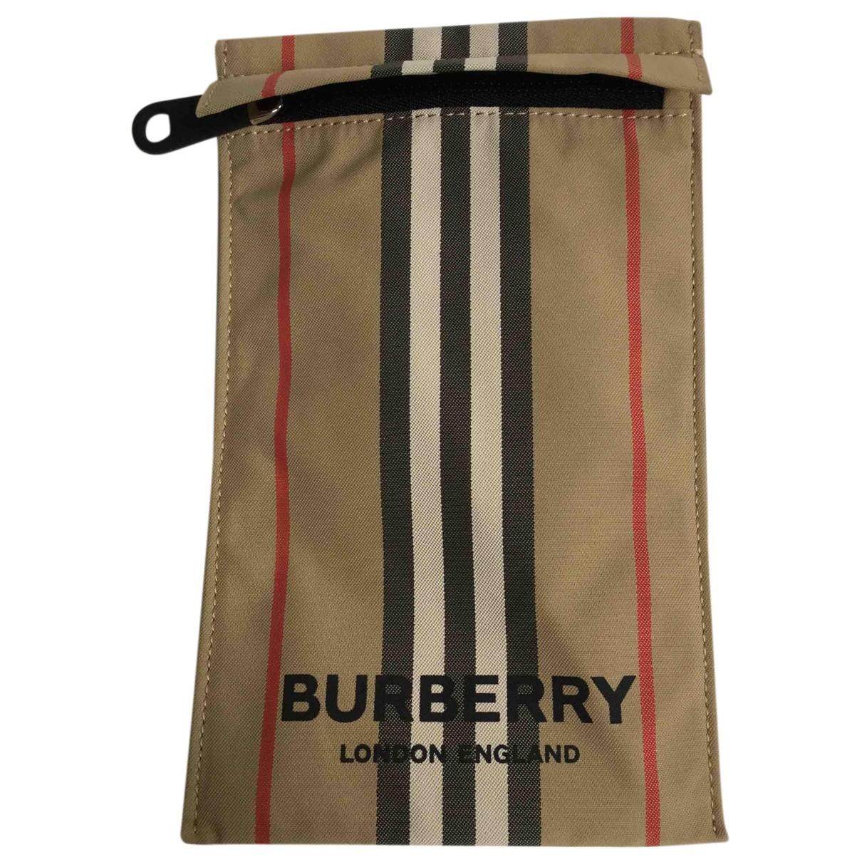 Burberry - Pochette   pour femme en toile - beige