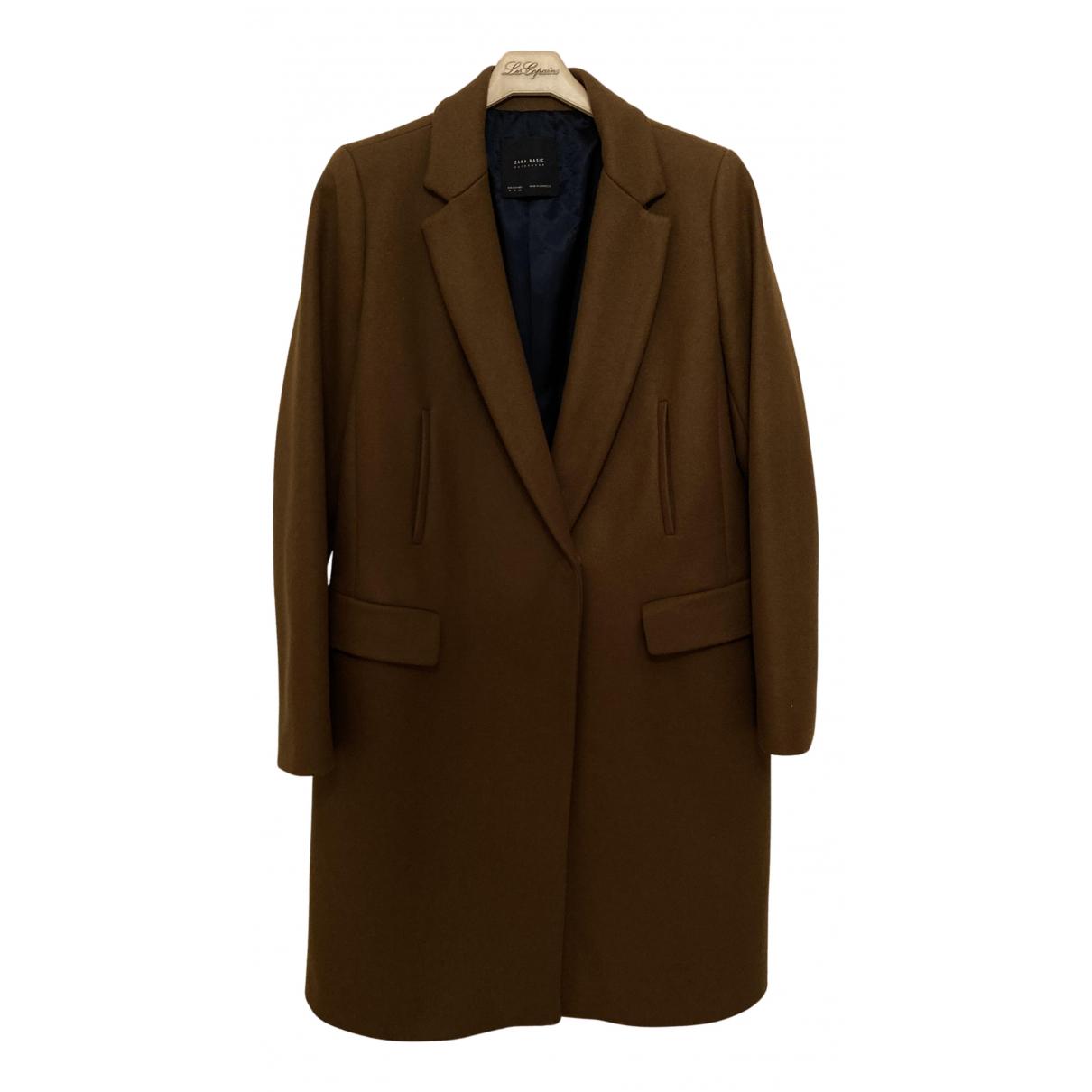 Zara - Manteau   pour femme en laine - marron